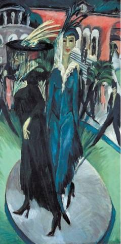 [MUSEUM OF MODERN ART]detail of Ernst Ludwig Kirchner's 'Potsdamer Platz' (1914).