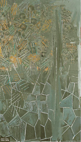[M E T R O P O L I TA N M U S E U M O F A RT] Jasper Johns, 'Céline' (1978). Shades of Gray The Metropolitan Museum of Art's show is a glorious tribute to the founding father of reactionary art, Jasper Johns, Lance Esplund writes.