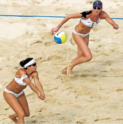 [T H O M A S C O EX/A F P/ G E T T Y] GOLD MEDAL GAME Misty May-Treanor and Kerri Walsh will play for gold tomorrow morning in Beijing.