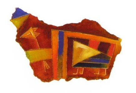 Antonia Guzmán<br>Pedacito<br>2006<br>3.5 x 6 inches<br>painting, watercolor on paper