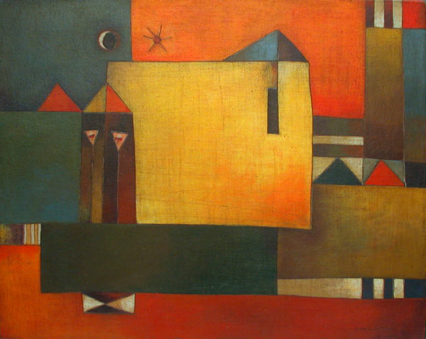 Antonia Guzmán<br>Solo Dos<br>2002<br>16 x 20 inches<br>painting, acrylic on canvas