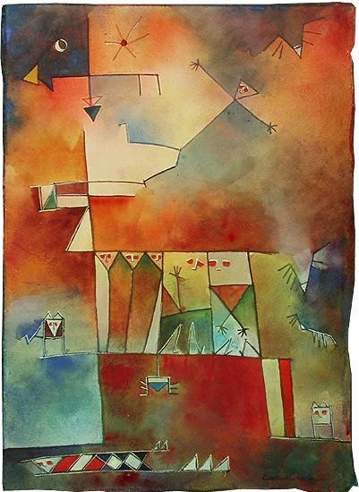 Antonia Guzmán<br>TIEMPO PERDIDO<br>Acuarela<br>24,5 x 17,5 cm<br>1996