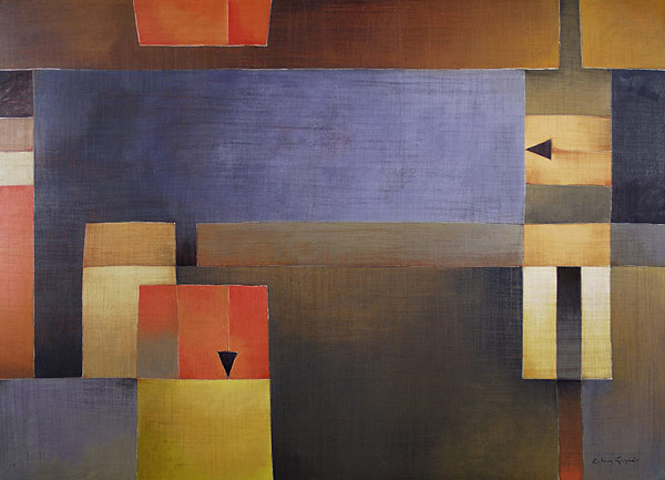 Antonia Guzmán<br>The Fair Place/El Sitio Justo<br>2008<br>40 x 55 inches<br>painting, acrylic on canvas