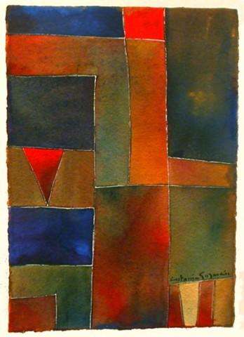 Antonia GuzmánThematic Series 3/Seria Tematica 3200813.5 x 10.75 inchespainting, watercolor on handmade paper