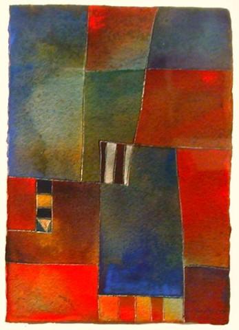 Antonia GuzmánThematic Series/Seria Tematica 6200813.5 x 10.75 inchespainting, watercolor on handmade paper
