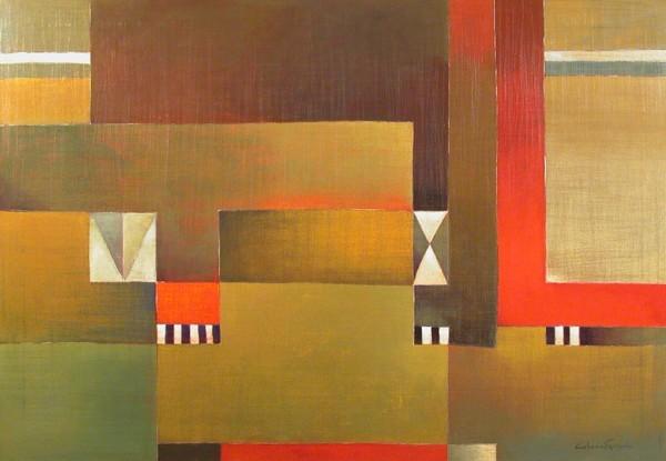 Antonia Guzmán<br>Todos Extraños<br>2006<br>Acrylic on canvas<br>39 x 55 in