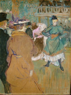 Henri de Toulouse-Lautrec French, 1864 - 1901 Quadrille at the Moulin Rouge, 1892 oil on cardboard, 80.1 x 60.5 cm (31 1/2 x 23 3/4 in.) Chester Dale Collection 1963.10.221