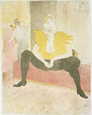 Henri de Toulouse-Lautrec Seated Clowness (La Clownesse assise), 1896 Gift of Mr. and Mrs. Robert L. Rosenwald, in Honor of the 50th Anniversary of the National Gallery of Art 1991.30.1