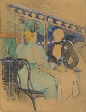 Henri de Toulouse-Lautrec French, 1864 - 1901 Fashionable People at Les Ambassadeurs (Aux Ambassadeurs: Gens Chic), 1893 Collection of Mr. and Mrs. Paul Mellon 1995.47.67