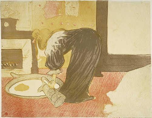Henri de Toulouse-Lautrec Woman at the Tub (Femme au tub), 1896 Rosenwald Collection 1946.21.339