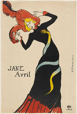 Henri de Toulouse-LautrecFrench, 1864 - 1901Jane Avril, 1899Rosenwald Collection1953.6.137