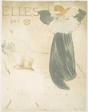 "Henri de Toulouse-Lautrec French, 1864 - 1901 Frontispiece for ""Elles"", 1896 Rosenwald Collection 1952.8.434"