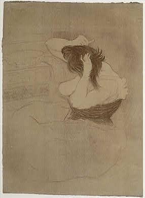 Henri de Toulouse-LautrecWoman Combing Her Hair (Femme qui se peigne), 1896Rosenwald Collection1947.7.153
