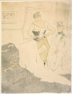 Henri de Toulouse-Lautrec French, 1864 - 1901 / Auguste Clot (printer) French, 1858 - 1936 Woman in Corset (Femme en corset), 1896 4-color lithograph image: 52.4 x 40.3 cm (20 5/8 x 15 7/8 in.) sheet: 52.4 x 40.3 cm (20 5/8 x 15 7/8 in.) Rosenwald Collection 1947.7.152