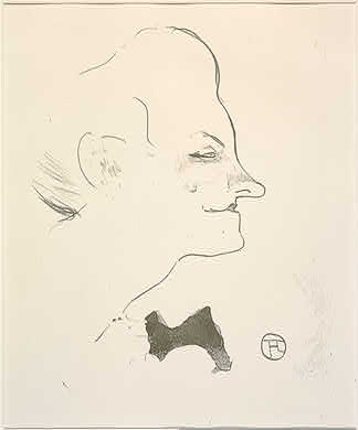 Henri de Toulouse-Lautrec French, 1864 - 1901 Yvette Guilbert, 1893 Rosenwald Collection 1947.7.166
