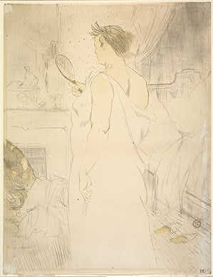 Henri de Toulouse-Lautrec Woman at the Mirror (Femme à glace), 1896 Rosenwald Collection 1964.8.1892