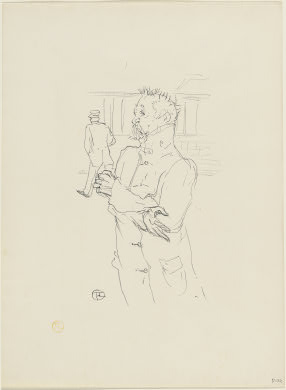 Henri de Toulouse-LautrecFrench, 1864 - 1901Le Fou, 1895lithograph in black on velin paperimage: 22 1/2 x 17 13/16 in. (57.1 x 45.3 cm)Rosenwald Collection1952.8.391