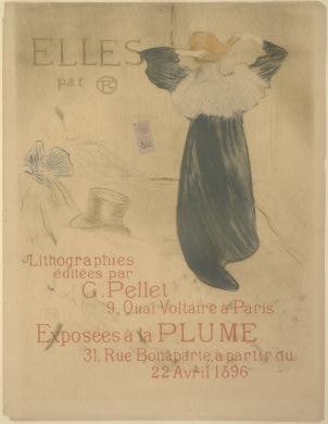"""Henri de Toulouse-Lautrec Poster for """"Elles"""", 1896 Rosenwald Collection 1952.8.433"""
