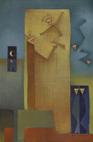 Antonia Guzmán<br>Dime mi nombre (Tell me my Name)<br>2009<br>Acrylic on canvas<br>h: 30.8 x w: 22 in<br>h: 78.2 x w: 55.9 cm