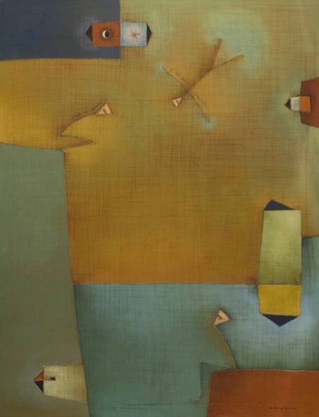 """Antonia Guzmán<br>Y al alba (And at Dawn)<br>Acrylic on canvas<br>40"""" x 30""""<br>2009"""
