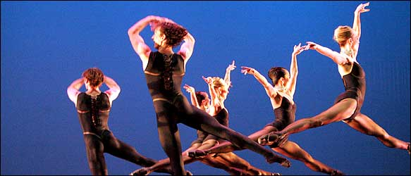 "[Michelle V. Agins/The New York Times]The Atlanta Ballet in Christopher Hampson's ""Sinfonietta Giocosa."""