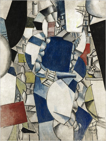 """[Sotheby's]Léger's """"Study for the Woman in Blue"""" (1912-13) sold Wednesday night for $39.2 million, an auction record for the artist."""