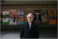 "[Michael Falco for The New York Times] The Broadway producer James Freydberg predicts the financial downturn could bring ""gigantic trouble"" to the theater industry."