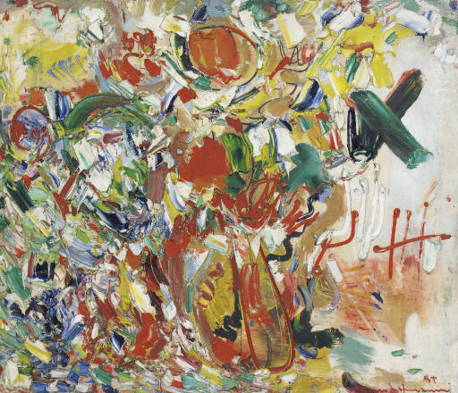 Hans Hofmann (1880-1966)Golden Glowsigned and dated '54 hans hofmann' (lower right); signed again, titled and dated again 'Golden Glow 1954 hans hofmann' (on the reverse)oil and gesso on panel30 x 35 in. (76.2 x 88.9 cm.)Painted in 1954.