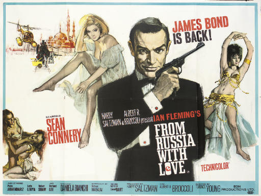 From Russia With Love1963, Eon/United Artists, British quad -- 30x40in. (76x105cm.), (A-)Art by Eric Pulford and Renato Fratini