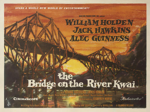 The Bridge On The River Kwai 1957, Horizon Productions, British quad, style A -- 30x40in. (76x105cm.), linen-backed, (A-)