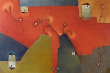 Antonia Guzmán<br>El Culposo<br>120 x 80 cm