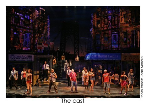 In The Heights, the cast [Photo credit: Joan Marcus]