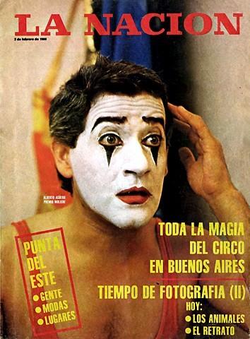 Tapa Revista La Nación 2 de febrero 1986. Toda la magia del circo en Buenos Aires. [Foto Daniel Merle/LA NACIÓN]
