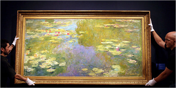 "[Andy Rain/European Pressphoto Agency] ""Le Bassin aux Nymphéas,"" the record-breaking Monet. (Estimate: $36 million to $47 million. Realized: $80.4 million)"