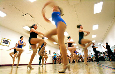 [Mike Segar/Reuters] Dancers have the youngest median age (26), lowest median income ($20,000 a year) and highest proportion of minorities (40 percent) among professional artists, according to census data.
