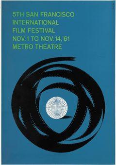 San Francisco Film Festival5th San Francisco International Film Festival, 1961, U.S. one-sheet -- 41x27in. (104x69cm.), (A-) unfoldedArt by Saul Bass