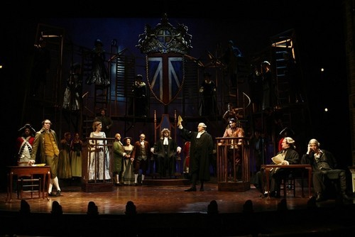 A Tale of Two Cities the Musical<br>The cast in the famous court-room scene