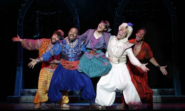 Brian Gonzales, James Monroe Iglehart, Andrew Keenan-Bolger, Adam Jacobs, and Brandon O'Neill<br>/ Read more: http://broadwayworld.com/article/Photo-Flash-Disneys-ALADDIN-at-5th-Avenue-Theatre-First-Look-20110718#ixzz1Tyb6idhL