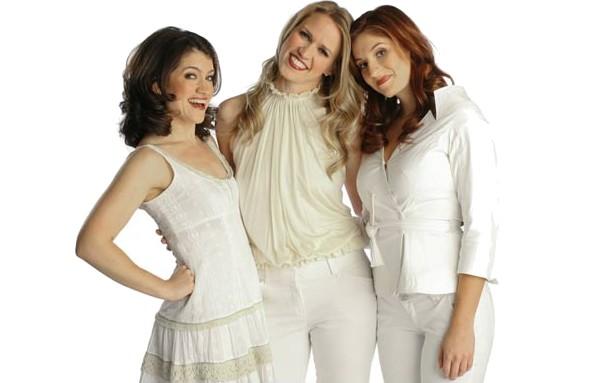 "[Joan Marcus]<br>Sarah Stiles, Lauren Kennedy and Anneliese van der Pol in ""Vanities, a New Musical"""