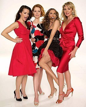 """Kim Cattrall, Cynthia Nixon, Sarah Jessica Parker, Kristin Davis./ The closer we get to the May 30th release of the """"Sex and the City"""" movie, the more these promo pics keep popping up."""